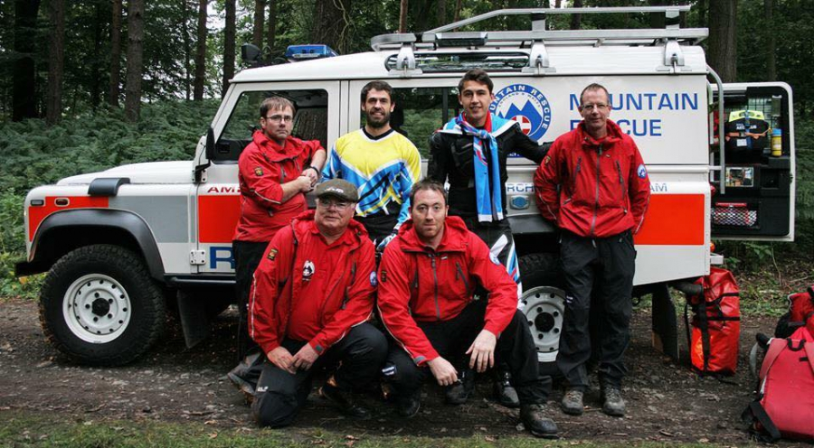 Calder Valley Search & Rescue Team at Emmerdale Film Set