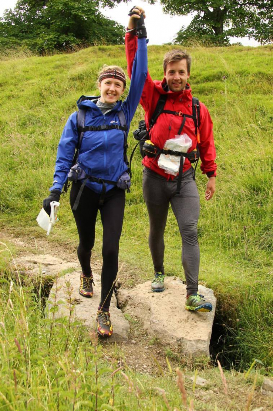 Beth & Alex's fundraising Mountain Challenge