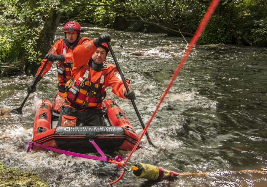 Water Skills Training for Mid-Pennine Mountain Rescue Teams