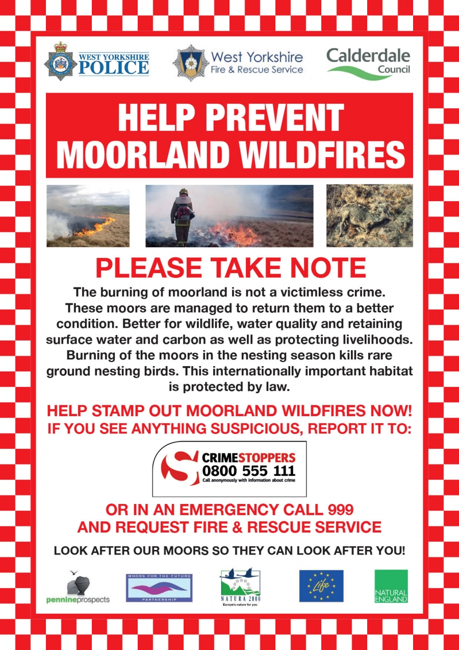 Help to prevent moorland wildfires