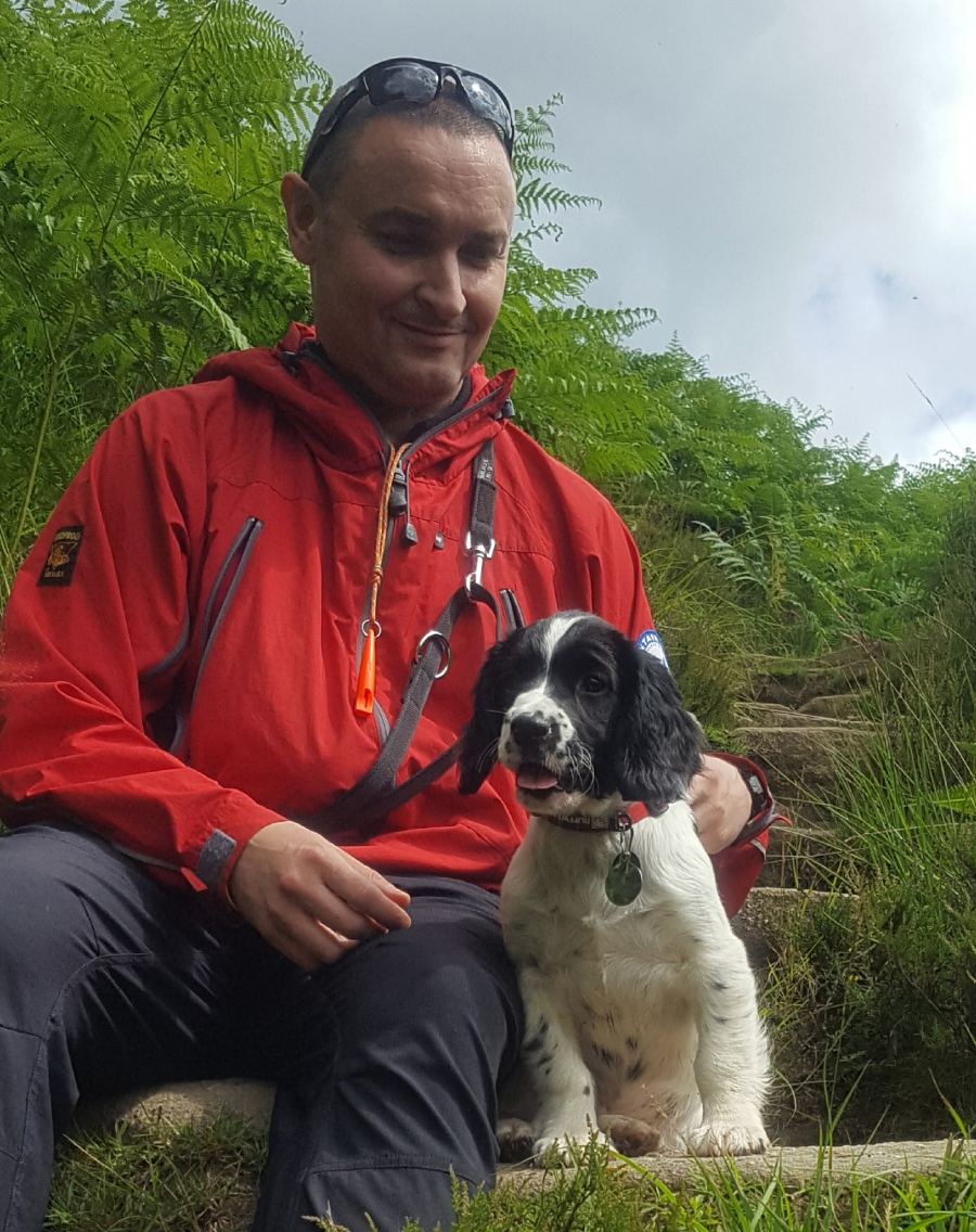 CVSRT Trainee search dog 'Orion'