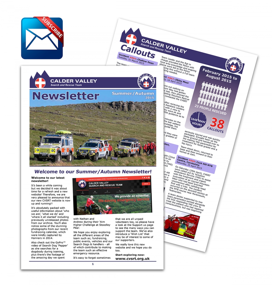 Latest CVSRT Newsletter