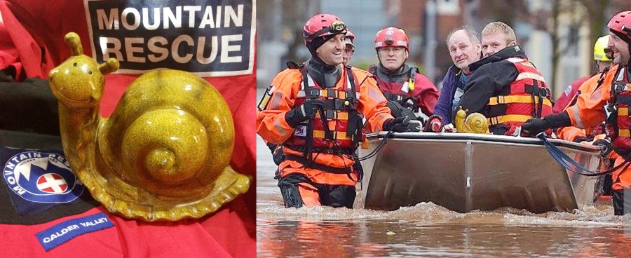 Carl the Snail rescued during the Carlisle floods (Dec 2015)