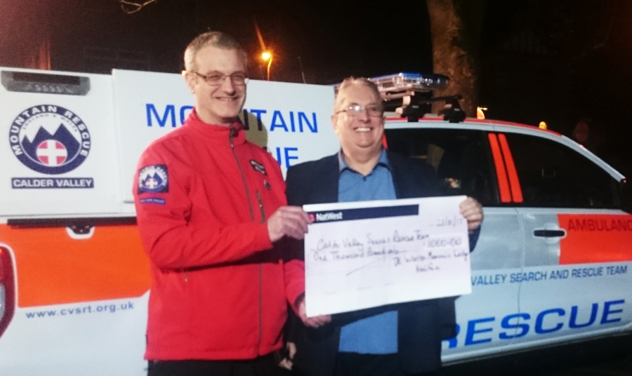 CVSRT receive £1000 donation from Halifax Freemasons (De Warren Lodge)