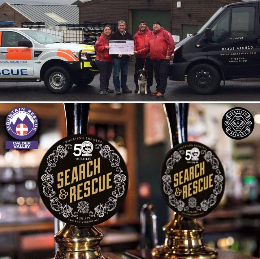 Vocation Brewery donate £805.00 to CVSRT